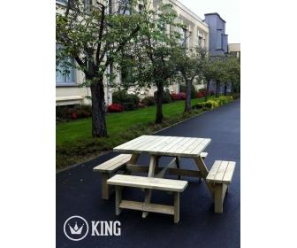 Table de pique-nique imprégné KING carré à vendre 1