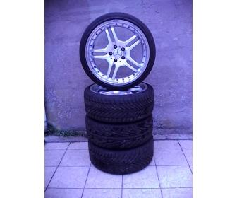 Jantes Alu avec cache moyeu Mercedes et pneus Goodrich 2