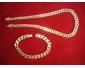 Collier et bracelet assortis en or maille gourmette