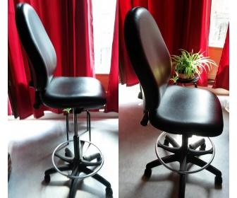 Fauteuil de bureau neuf en simili-cuir 2