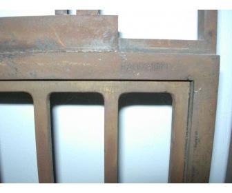 Porte en fer forger avec cadre en verre 4
