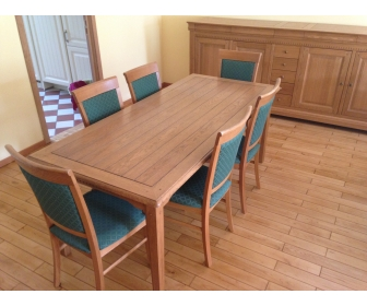 salle à manger complète en chêne massif français 1