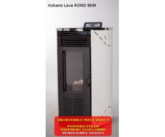 Poêle à pellets Vulcano Lava ROND 8kW 1