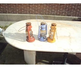 Lampe à petrole de couleur 1