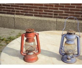 Lampe à petrole de couleur 4