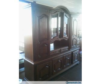 Meuble salon avec vitrine en occasion for Monte meuble occasion belgique