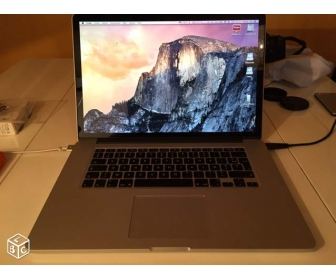 Macbook pro 15 ecran retina Core i7 8 Go. Disque Dur : 256 Go SSD 1