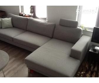 canapé occasion en L tissu gris 4