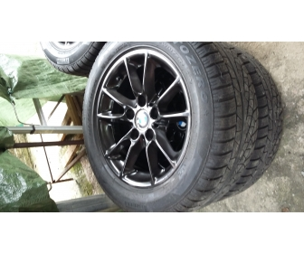 Jantes BMW alu+pneus neige 2