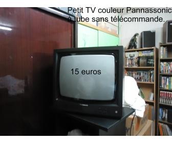 Petite tv couleur sans télécommande 1