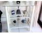 table ou étagère, 3 étages en verre