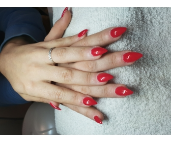 Manicure les  Angles en gel uv 3