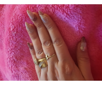 Manicure les  Angles en gel uv 4